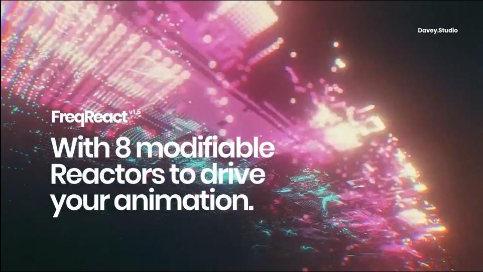 音乐驱动视频节奏动画AE插件 FreqReact v1.5 for After Effects Win/Mac插图