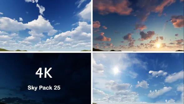 4K视频素材-25个4K蓝天白云早上太阳天空云朵云彩视频素材Sky Pack (25) 4K插图