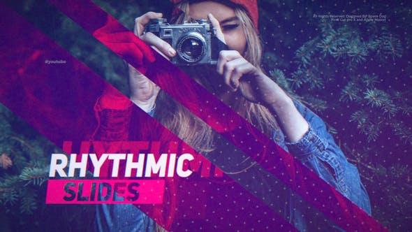 FCPX模板-数字故障失真幻灯片图文介绍开场 Rhythmic Slides插图
