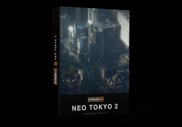 未来科幻东京城市楼房建筑3D模型 KitBash3D – Neo Tokyo 2 (C4D/MAX/OBJ/FBX格式)插图