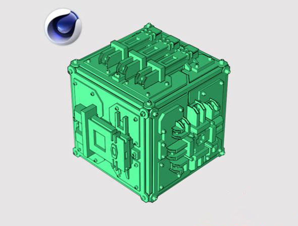 未来科幻多边形城市预设C4D插件 Poly Greeble 1.01 for Cinema 4D R15-S22插图