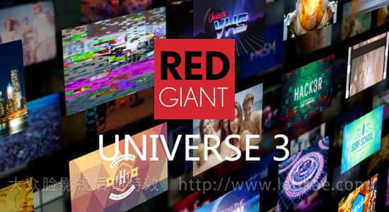 FCPX/AE/PR/OFX/达芬奇/VEGAS红巨人视觉特效和转场插件包 Red Giant Universe v3.2.3 Win/Mac序列号注册破解版插图