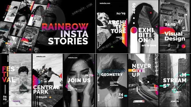 15款时尚现代风格的Instagram Story屏幕设计样机AE模板插图