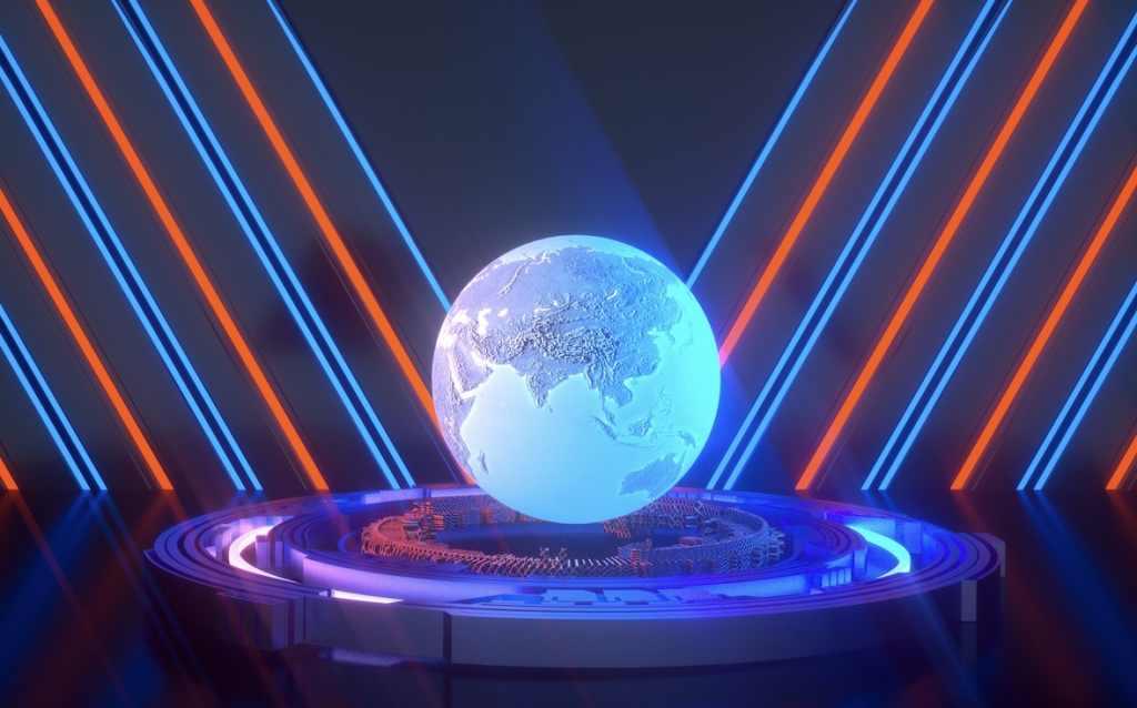 科技地球带材质C4D工程