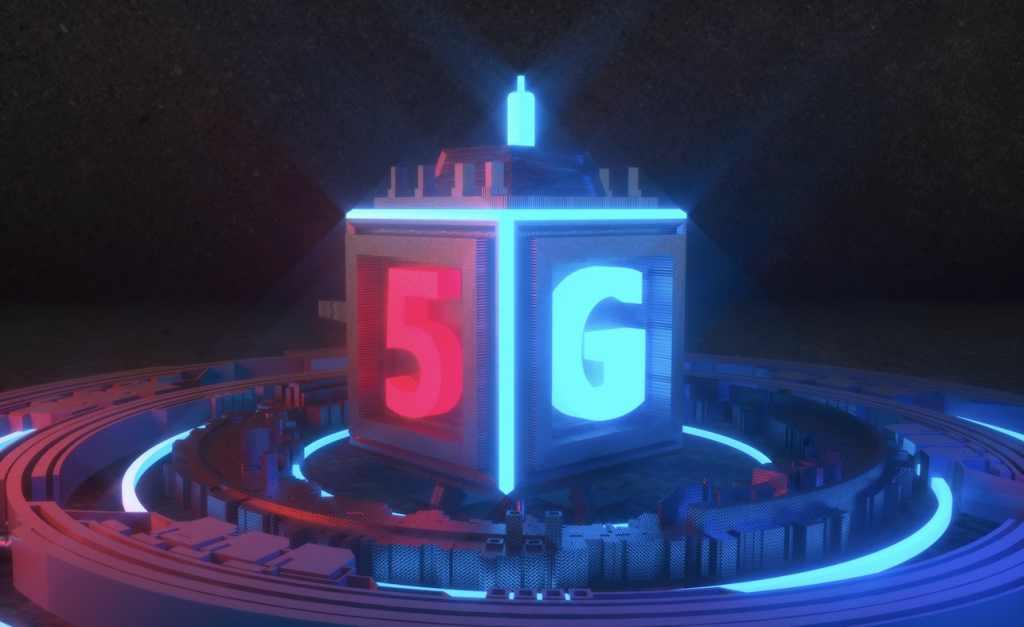 5G科技C4D模型插图