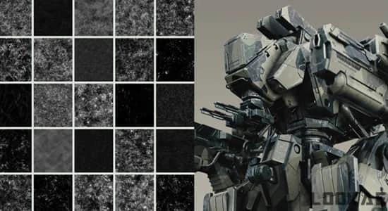 50张GSG灰猩猩刮痕划伤污迹斑点表面损坏粗糙质感4K材质纹理贴图 Greyscalegorilla – Surface Imperfections Scratches Maps插图