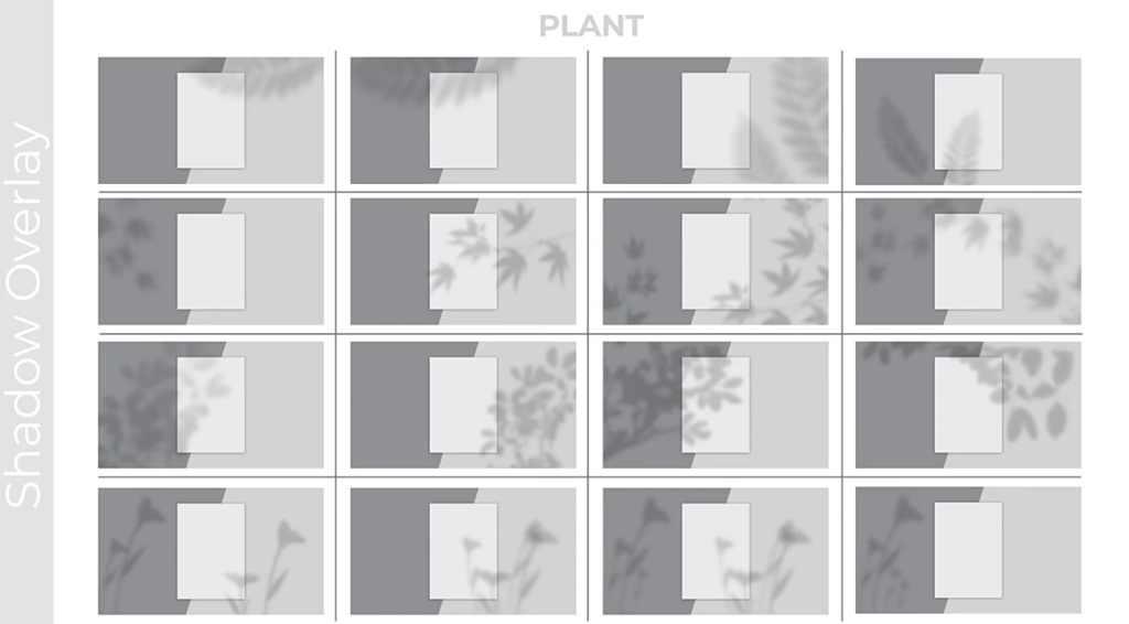 100个优雅真实场景投影动画AE/PR模板- Realistic Shadow Overlays Collection