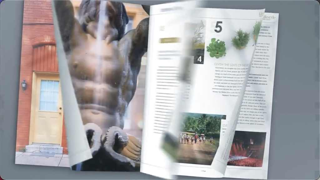 时尚杂志三维书籍宣传介绍动画 Stylish Magazine Promo-AE模板